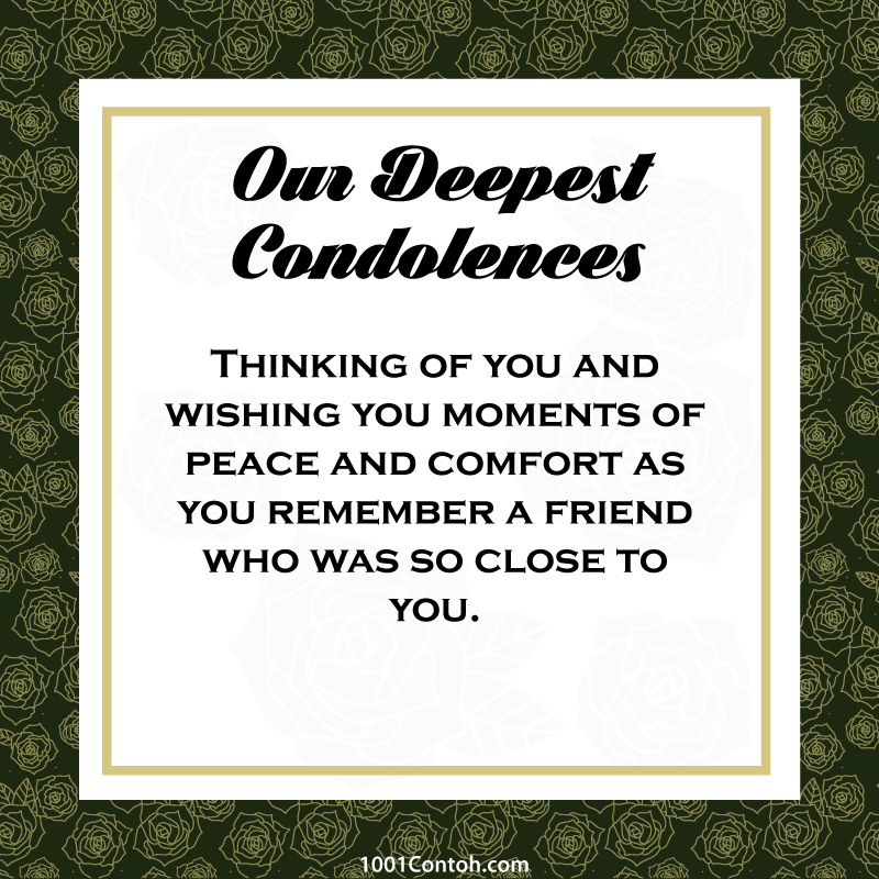Best Wish for Condolences and Sympathy Message