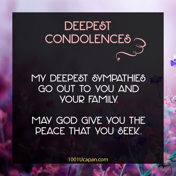 Wishes Condolences - RIP Message