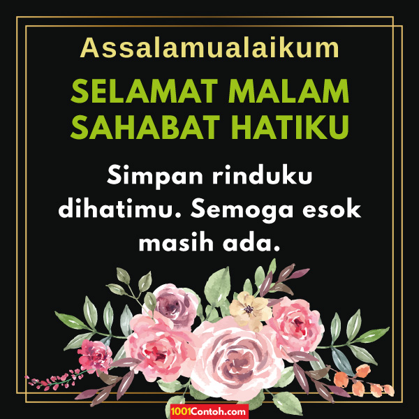 Selamat Malam Sahabat Quotes Bahasa Melayu