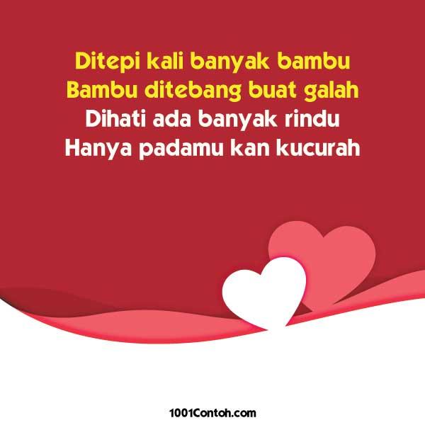 Pantun Romantis dan Romantik Untuk Kekasih