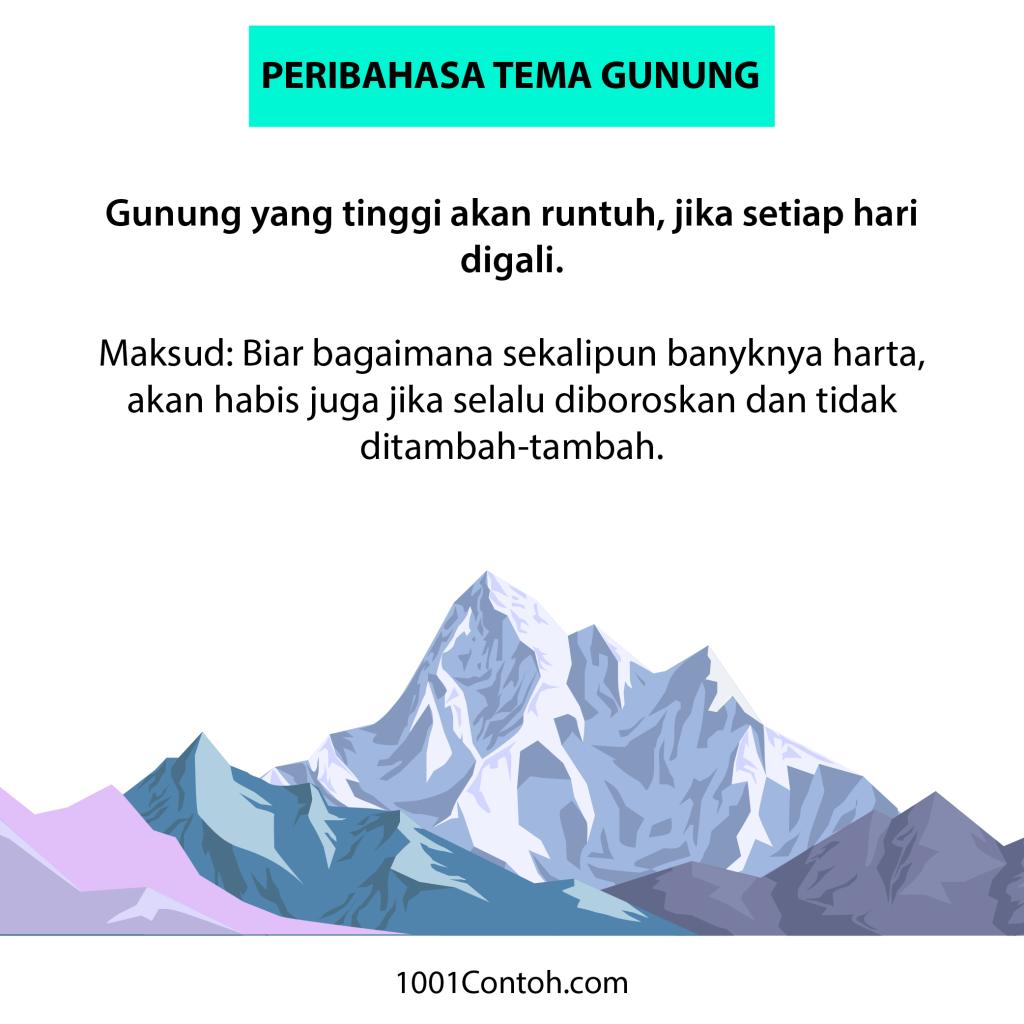 Peribahasa Bergambar: 9 Peribahasa Gunung