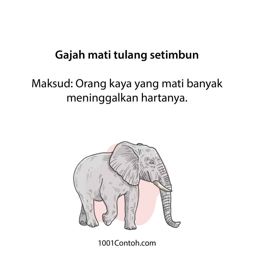 Peribahasa Bergambar: 13 Peribahasa Gajah