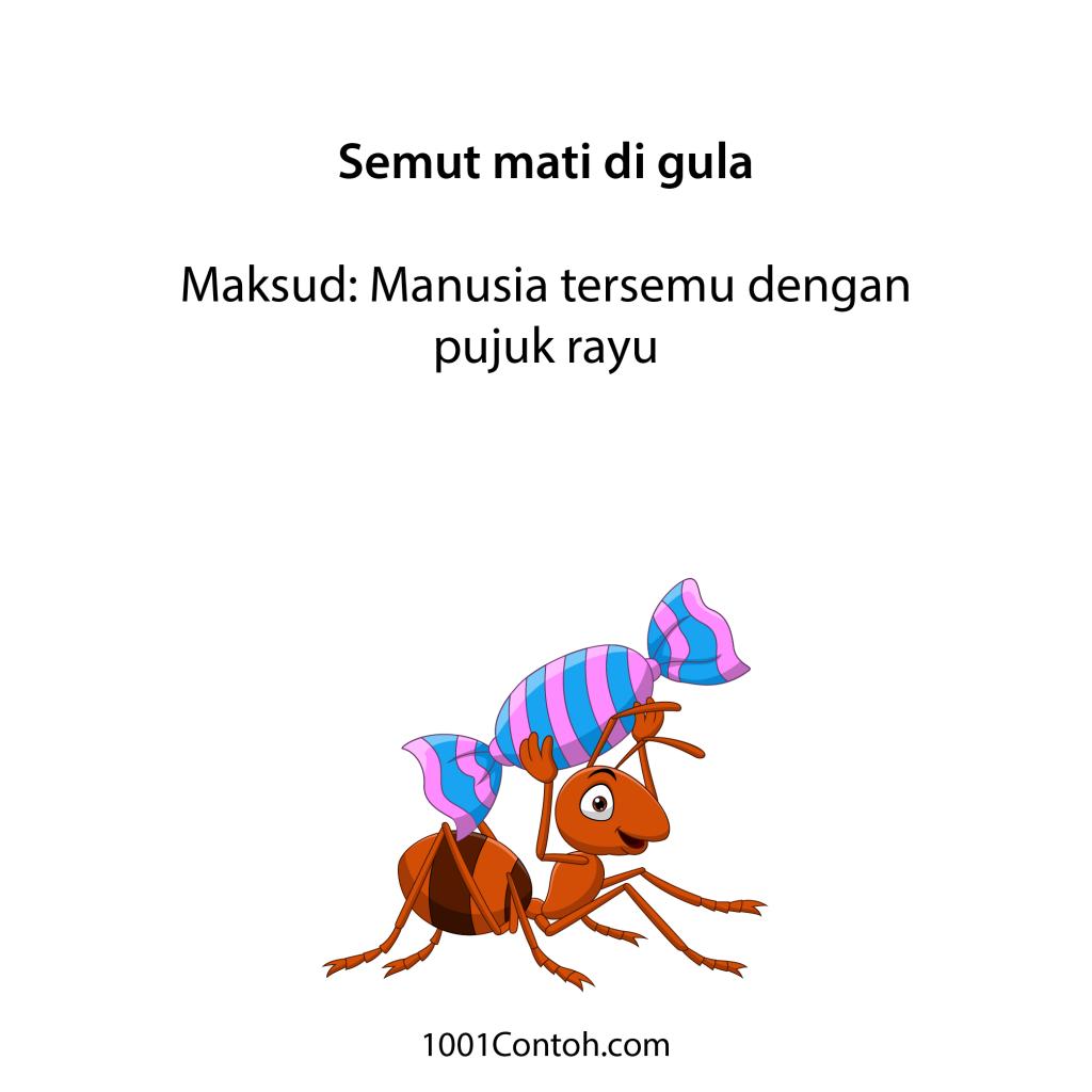 Peribahasa Bergambar: 11 Peribahasa Gula dan Semut